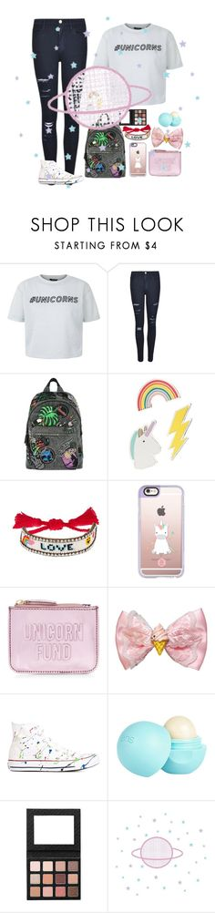 """#unicorns"" by treelights29 ❤ liked on Polyvore featuring New Look, Frame, Marc Jacobs, Red Camel, Shourouk, Casetify, Converse, River Island and Sigma"