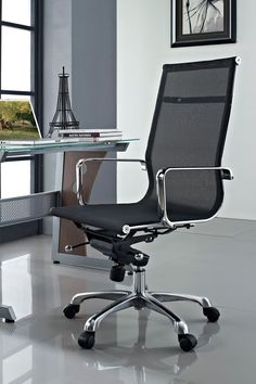 Regis Mesh High Back Conference Office Chair - Black