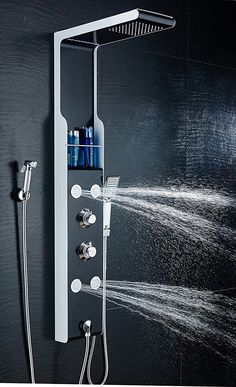 Rainfall Waterfall Shower Head 5-Function Faucet Rain Massage System with Body Jets