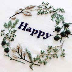 Happy new year ! 良い年でありますように。 #embroidery #刺繍 #2015