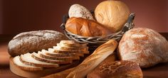 Health Tip: Bread is a staple part of a healthy eating pattern as it is low in fat and one of the best sources of fiber. It is made up of energy-providing carbohydrates, protein, vitamins and minerals. Bread is an important component of healthy eating. Brown Bread, White Bread, Croissants, Country Bread, Types Of Bread, Ate Too Much, Rye Bread, Food Staples, Artisan Bread