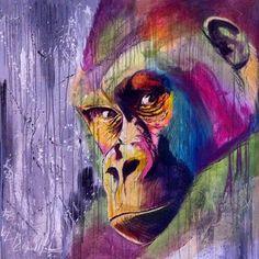 gorille art de la rue #graffiti