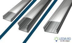 profil led aluminiu banda led montaj suprafata
