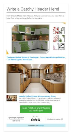 Your Dream modular Kitchen in Your design and Budget : contact the Kitchen Expert : Nano Kitchen and Interiors : Ph:9349101300