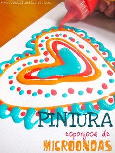 Nuestro Mundo Creativo: Pintura Esponjosa de Microondas. http://www.carolinallinas.com/