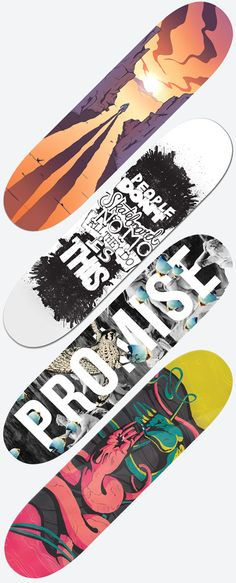 Skateboard designs - Bordo Bello 2012 by Big Spaceship , via Behance