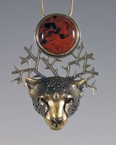 handcrafted animal totem jewelry, cheetah jewelry, cheetah totem/