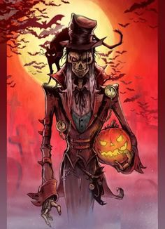 Jack o' Lantern.  Stingy Jack.  Read about Halloween http://lilywight.com/2013/10/29/samhain-beginners-guide-to-the-wheel-of-the-year/