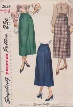 526f405d0 1940s New Look Five Gore Skirt Vintage Pattern by BuzzyVintage, $8.00 Gored  Skirt, Fitted