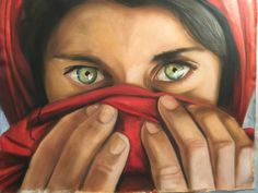#oil painting - f.to 80x60 (tribute to Steve McCurry)
