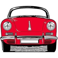 Lifesize Cardboard Cutout Standee Party Decoration 50 classic Car Red Fifties