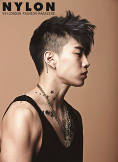 In his recent photo shoot for Nylon magazine, singer/rapper Jay Park impressed with his masculine charms.The pictures feature Jay Park in a simply manner, allowing him to be the main focus of the photos. Punk Rock Hair, Short Punk Hair, Prom Hairstyles For Short Hair, Faux Hawk Hairstyles, Hairstyles Haircuts, Haircuts For Men, Punk Haircut, Asian Haircut, Mohawks