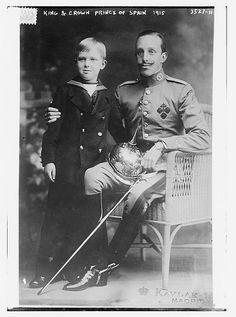 King Alfonso of Spain and his son and heir Prince Alfonso of Asturias, 1915