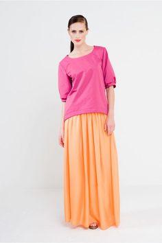 Schnittmuster Shirt Sophie ist ein elegantes Shirt mit Puffärmen und rundem Halsausschnitt.