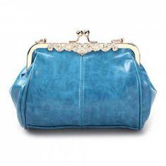$10.80 Casual Women's Shoulder Bag With Metal and Kiss Lock Closure Design