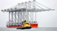 Holland, Port of Rotterdam In Rotterdam, the largest quayside cranes in the world arrived. January 14, 2014