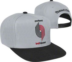 check out 7240a 27d9c Trail Blazers Cool Grey Mitchell   Ness 2-Tone XL Snapback