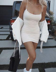 Calvin Klein Ads, Fitspo, Girl Fashion, White Dress, Bodycon Dress, Dresses, Style, Women's Work Fashion, Vestidos