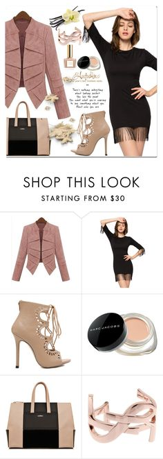"""Z1"" by jecakns ❤ liked on Polyvore featuring Marc Jacobs, Yves Saint Laurent, outfit, falltrend and blackdres"