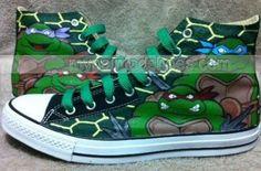 Teenage Mutant Ninja Turtles custom High-top Painted Canvas Shoe