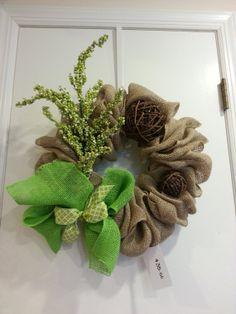 Spring burlap wreath by CrafttasticWreaths on Etsy, $35.00