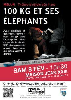 """""""100 kg et ses éléphants"""" Saison culturelle 2013-2014 Melun / ©Mdalpra"""