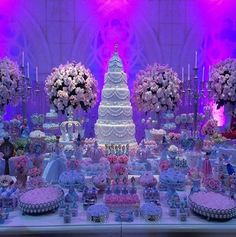 The Facts On Realistic Products For Vintage Quinceanera Party Decor - Great Party Quinceanera Decorations, Quinceanera Party, Wedding Decorations, Quinceanera Dresses, Cinderella Sweet 16, Cinderella Party, Candy Buffet Tables, Candy Table, 15th Birthday