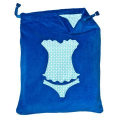 Protect and organize your lingerie with this eye-catching velour bag, featuring a drawstring closure and patterned motif.  Product: L...