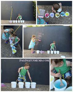 Homemade Fizzy Chalk Paint