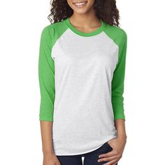 Next Level Unisex Tri-Blend 3/4-Sleeve Raglan - 6051         *** Check this awesome product by going to the link at the image. (This is an affiliate link) #SportsOutdoors