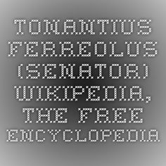 Tonantius Ferreolus (senator) - Wikipedia, the free encyclopedia Found when searching for his wife, Industria of Narbonne