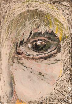 Untitled   reverse acrylic on plexiglas   by Anna Skaradzinska