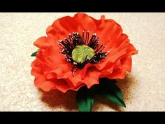 Fabric flowers how to make:poppy flower from fabric/tutorial/Цветы из ткани: немнущийся мак/МК - YouTube