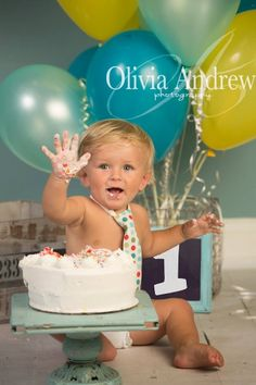 1st birthday boy rowen cake smash super cute baby