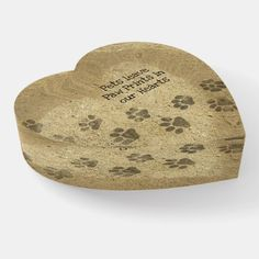 """#PawPrints in our #Hearts #Paperweight 👉 Feel free to delete the text, or to replace """"Pets"""" with """"Cats"""" or """"Dogs"""" or name of your pet, as long as it fits (what you see is what you get). More items with this design: www.zazzle.com/aura2000/paw+print"""