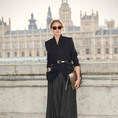 Fashion Week Diary | Day 7: Structured jacket by Reiss paired with Michael Kors wide-leg cropped pants, Wunderkind sunglasses,  Witchery clutch and Schultz heels. #LFW