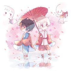 Soraru and Mafumafu Vocaloid, Anime Chibi, Manga Anime, Anime Art, Tracing Art, Satsuriku No Tenshi, Natsume Yuujinchou, Ichimatsu, Fanart