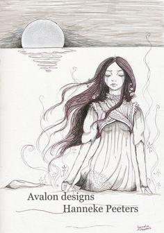 The little mermaid fantasy print poster door Avalon designs NL