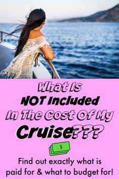 """So you're booking a cruise? You're probably wondering, """"what is, and what is NOT included in the cost of my cruise?"""" Understand what you're paying for Packing List For Cruise, Cruise Tips, Cruise Vacation, Vacation Trips, Vacations, Cruise Destinations, Amazing Destinations, First Class Flights, How To Book A Cruise"""