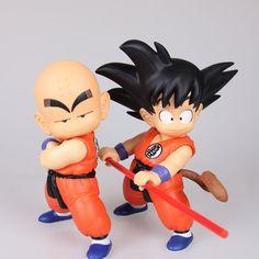 "Japanese Anime 2Pcs Figures DRAGON BALL Z Goku& klilyn Krillin 8.5"""