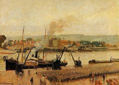 Camille Pissarro「Morning, after the Rain, Rouen」