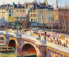 Maximilien Luce - Paris, le Pont-Neuf et le Quai Conti (Jour), 1896. Oil on canvas, 46.5 x 55 cm (17 7/8 x 22 5/8 in.).