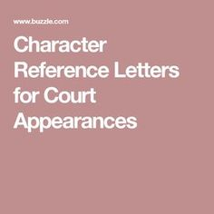 Sample Court Character Reference Letter Friend  Letters