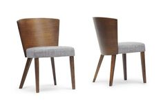 Baxton Studio Sparrow Brown Wood Modern Dining Chair (Set of 2) | Wholesale Interiors