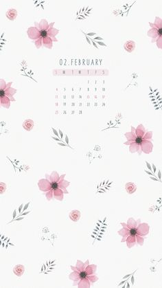 February Calendar, Ipad Background, Calendar Wallpaper, Iphone Wallpapers, Backdrops, Backgrounds, Kawaii, Pattern, Pictures