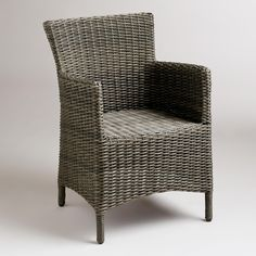 Solano All-Weather Wicker Dining Armchair | World Market