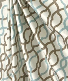 Powder Blue and Brown Curtain Panles 52 by RetroCurtainCompany, $224.99