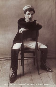 "Aleksandras Kutkauskas - Jacques Offenbach's opera ""The Tales of Hoffmann"" | [1925] | Kauno miesto muziejus | Public Domain"