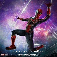 "(@superhero_world1996) on Instagram: ""#avengersinfinitywar #infinitywar #infinitystones #ironspider #ironman #spiderman"