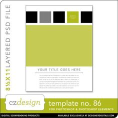Cathy Zielske's Layered Template No. 086 - Digital Scrapbooking Templates